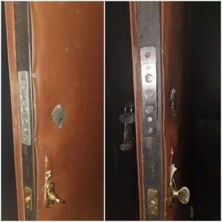 Замена замка на входной двери. Установлен замок Меттэм.